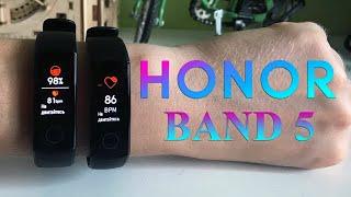 Фитнесс браслет Honor Band 5 - замеры пульса, кислорода в крови, сравнение показателей с тонометром