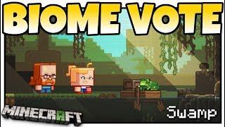 Minecraft - BIOME VOTE - MINECON LIVE ! FROGS & MANGROVE TREES = SWAMP - MCPE / Bedrock / Java