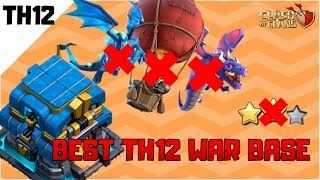 INSANE NEW TOWN HALL 12 WAR BASE DESIGN with Replays 2019 | Anti Electro Dragons | Clash of Clans