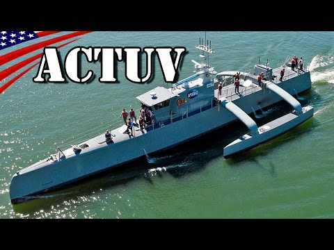 Anti-Submarine Warfare Continuous Trail Unmanned Vessel (ACTUV) Sea Hunter - US Navy New Type Vessel
