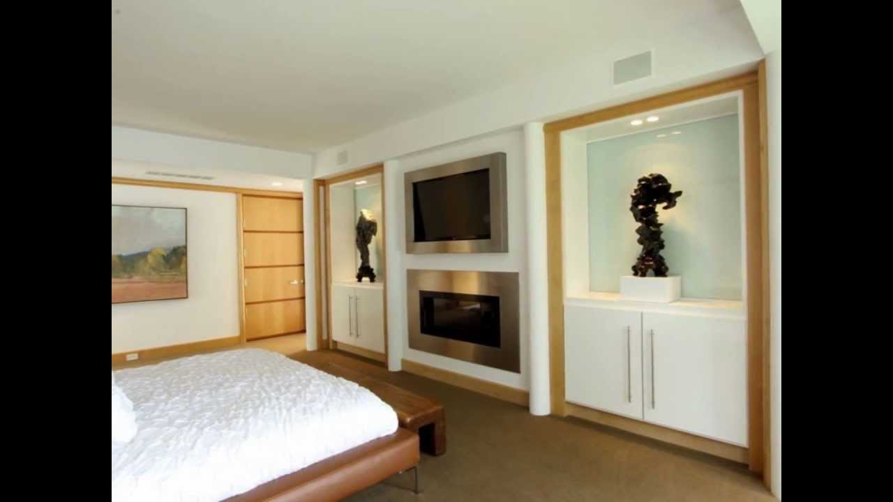 Master bedroom fireplace and entertainment wall a geist - Bedroom electric fireplace ideas ...