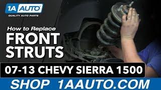 How To Install Front Shocks Struts Springs 2007-13 Chevy Silverado GMC Sierra 1500