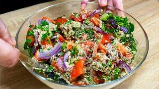 Вкуснейший грузинский Салат и ореховый соус! Постный Рецепт Очень Легкий! На Праздник без майонеза