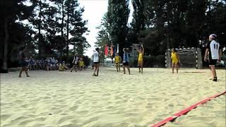 Пляжный гандбол  Женщины  Чемпионат России 2011г   г Краснодар
