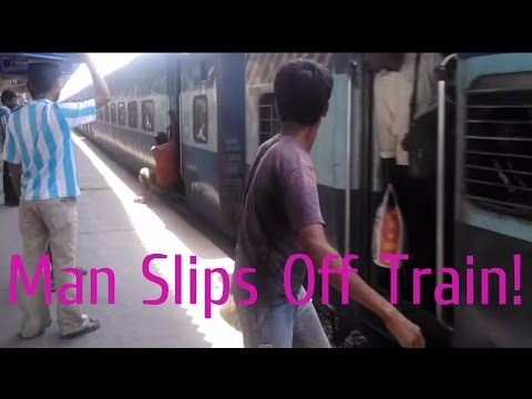 Funny Train Accident Videos! Man Slips off Train at Vasai [Indian Railways]