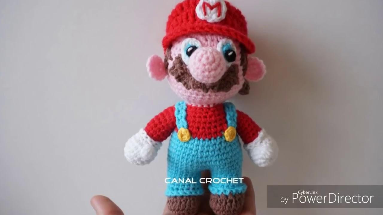 Super Mario & Yoshi Cuddly Toys Amigurumi - YouTube | 720x1280