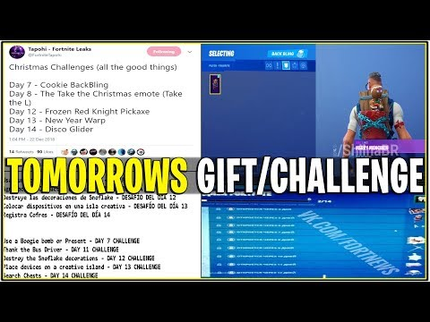 *NEW* TOMORROWS OFFICIAL CHRISTMAS GIFT/CHALLENGE TO UNLOCK IT! (14 Days of Fortnite)