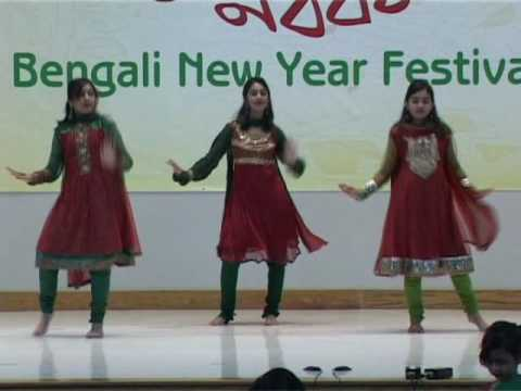 Dance Melay by Rafya, Ashneen, Rusama at the BAGA Pohela Boishakh Festival 1417, Austin, Texas