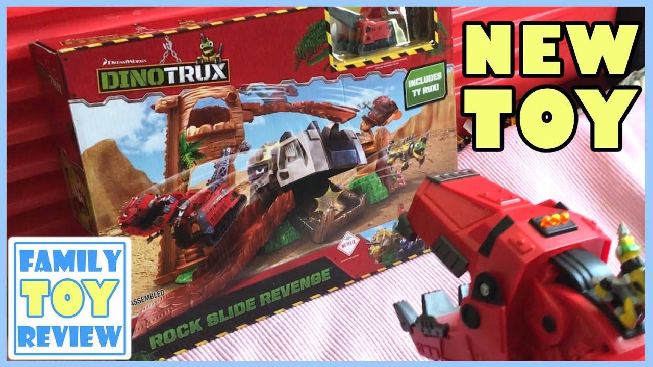 Dinotrux Toys New Release Ty Rux Rock Slide Revenge
