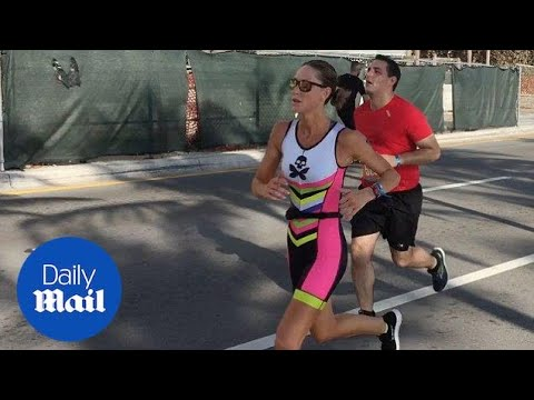 Lara Trump gives it her all in the Las Olas Triathlon - Daily Mail