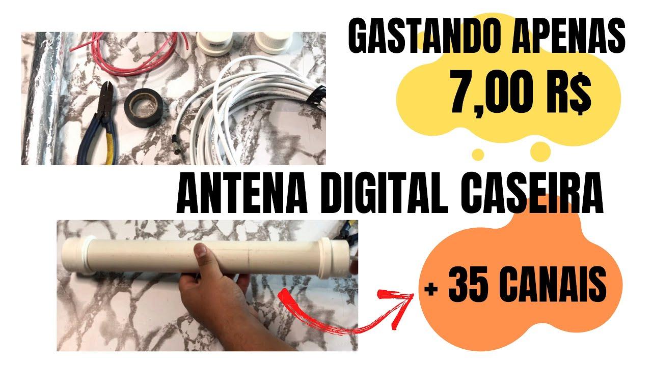 COMO FAZER UMA ANTENA DIGITAL 4K/FULL HD CASEIRA   #antena #4k