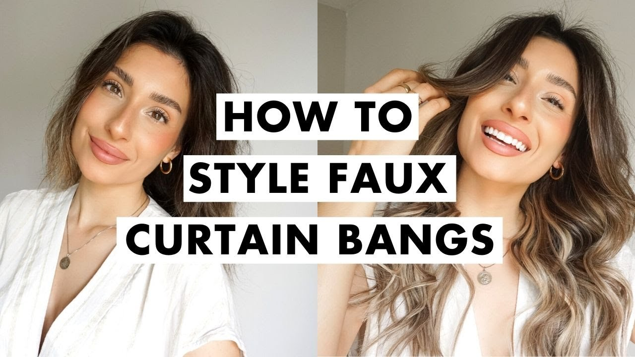 DIY Curtain Bangs   Easy Hairstyle