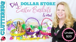 DIY Dollar Store Easter Basket Ideas & Haul