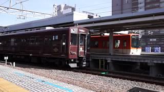 阪神9501F(神戸高速線50周年記念HM)とDH02(デボ1塗装)並び 2018.05.11