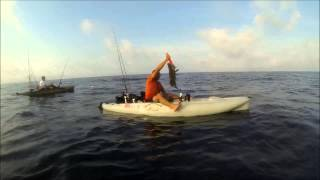 Kayak fishing in the Gulf of Mexico off of 30A