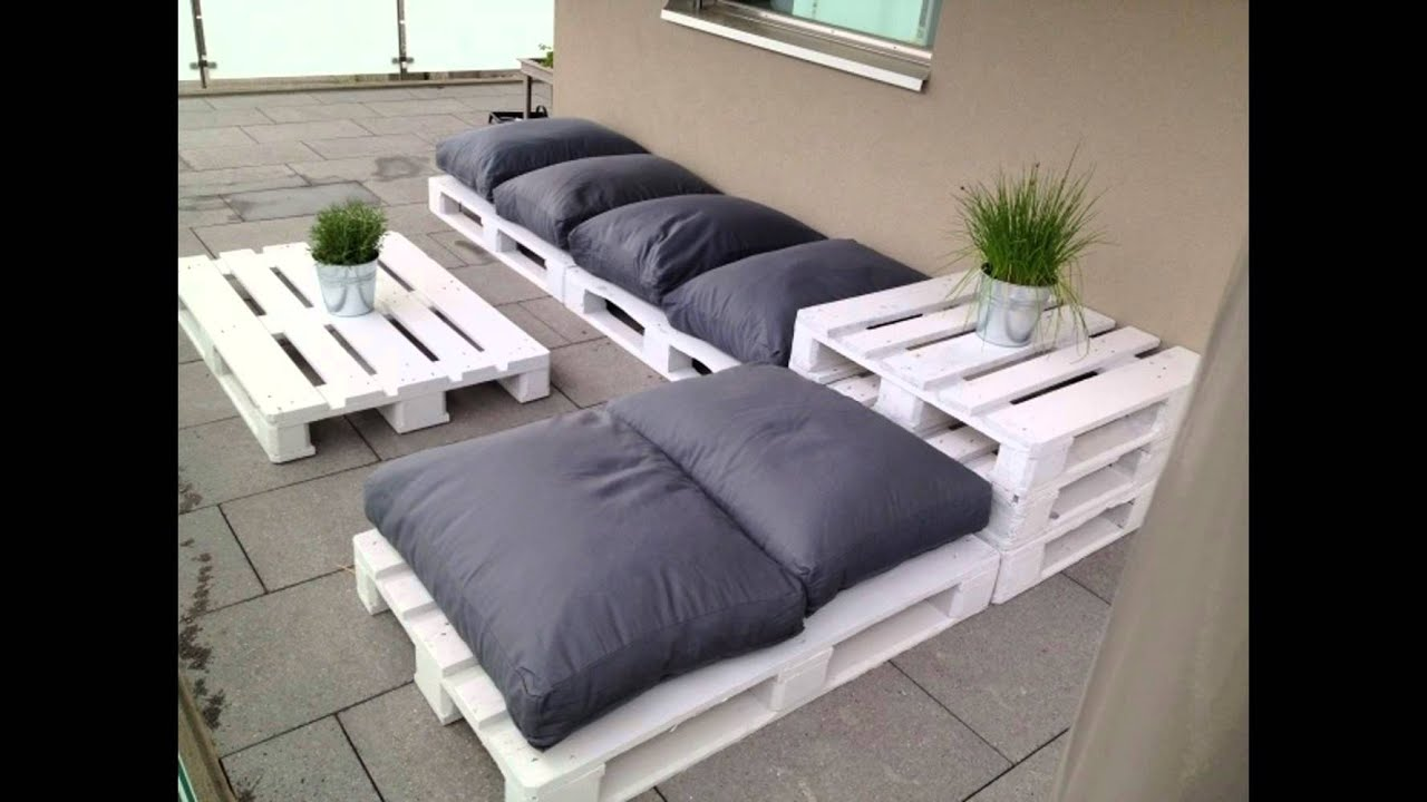 Bett selber bauen youtube Decoration jardin avec palette