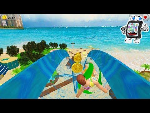 WASSERRUTSCHENABENTEUER in 3D Deutsch App - WASSERPARK IN DUBAI AUSPROBIEREN! Spiel mit mir