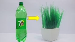 DIY Home Decor Ideas  How To Make Grass Using Waste Bottle Craft Best out of waste