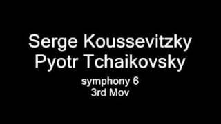 Serge Koussevitzky conduct Tchaikovsky symphony No. 6, 4rd Mov.