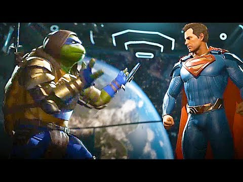 INJUSTICE 2 - TMNT Teenage Mutant Ninja Turtles Gameplay Epic Gear, Super Move