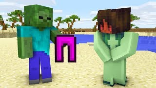 Monster School : GIRLS VS BOYS SWIMMING CHALLENGE - Minecraft Animation