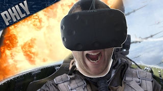 PLANE COMBAT In Virtual Reality (War Thunder HTC Vive Gameplay)
