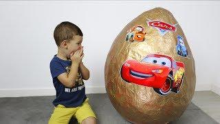 huevo sorpresa gigante de rayo mcqueen cars 3 giant surprise egg cars 3