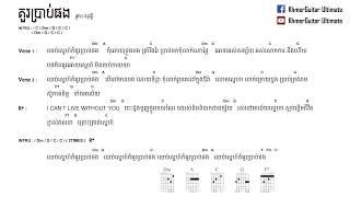 គួរប្រាប់ផង ព្រាប សុវត្តិ kou prab pong Preab Sovath ( Lyrics & Chord by KhmerGuitar Ultimate )