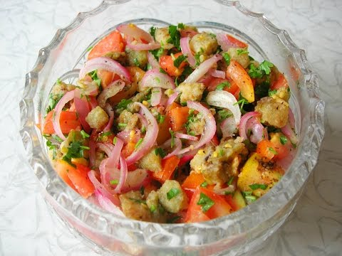 Рецепт Салат из баклажанов и помидоров. Домашний рецепт