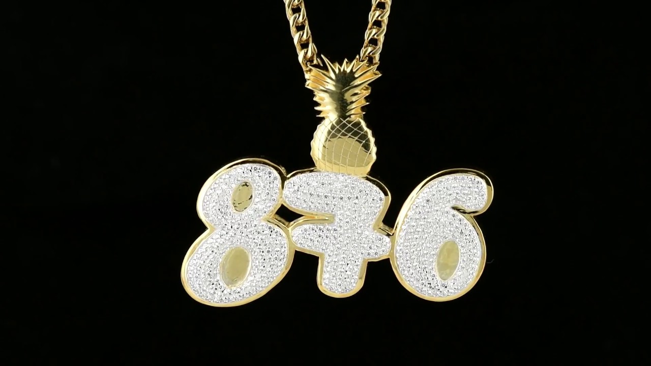Custom designed 876 bust down lab diamonds yellow gold pendant youtube custom designed 876 bust down lab diamonds yellow gold pendant aloadofball Image collections