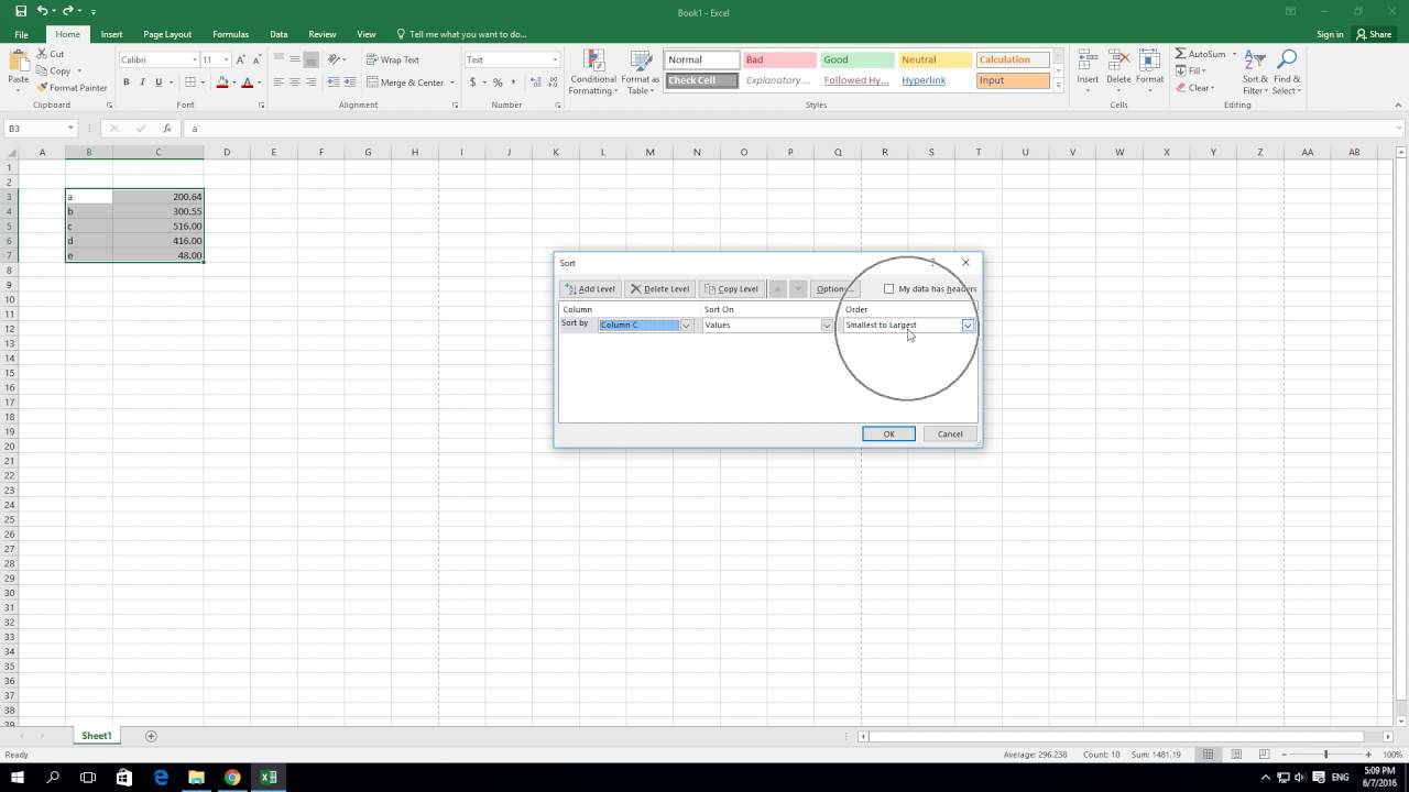 Ediblewildsus  Nice How To Sort From Smallest To Largest In Excel   Youtube With Gorgeous How To Sort From Smallest To Largest In Excel  With Beautiful Excel Vba Loop Through Columns Also Equations On Excel In Addition Converting Time To Decimal In Excel And Formula For Variance In Excel As Well As How To Make Data Table In Excel Additionally Excel Solve Equation From Youtubecom With Ediblewildsus  Gorgeous How To Sort From Smallest To Largest In Excel   Youtube With Beautiful How To Sort From Smallest To Largest In Excel  And Nice Excel Vba Loop Through Columns Also Equations On Excel In Addition Converting Time To Decimal In Excel From Youtubecom