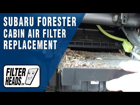 How To Replace Cabin Air Filter 2007 Subaru Forester