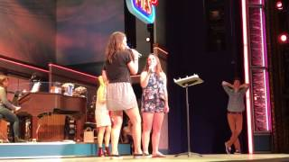 Sara Bareilles surprises fan with duet