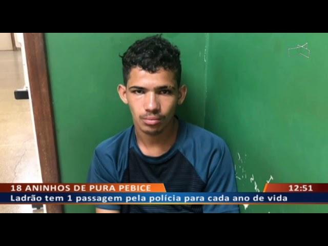 DF ALERTA - Ladrão especializado em roubar ônibus tem 18 crimes aos 18 anos