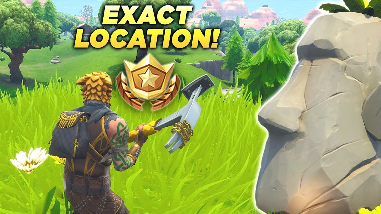 search where the stone heads are looking fortnite location stone heads week 6 season 5 battle star - fortnite tiki head locations