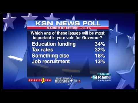 Kansas Democrat Paul Davis surges ahead of Republican Sam Brownback in the polls.