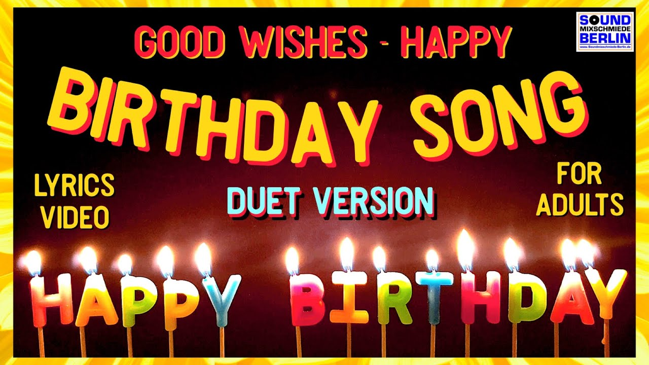 Happy Birthday Song For Adults Rock Funny Birthday Wishes Lyrics Video For Friends Whatsapp Youtube