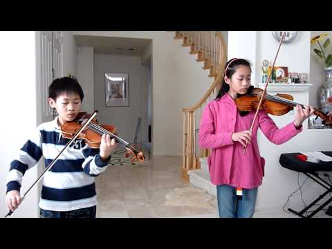 Canon in D---violin duet by Esther & Joshua