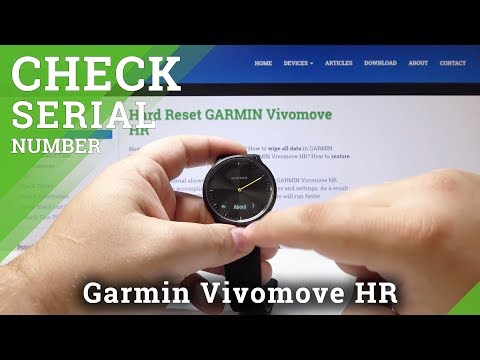 How To Locate Serial Number In GARMIN Vivomove HR - Check SN In Smartwatch