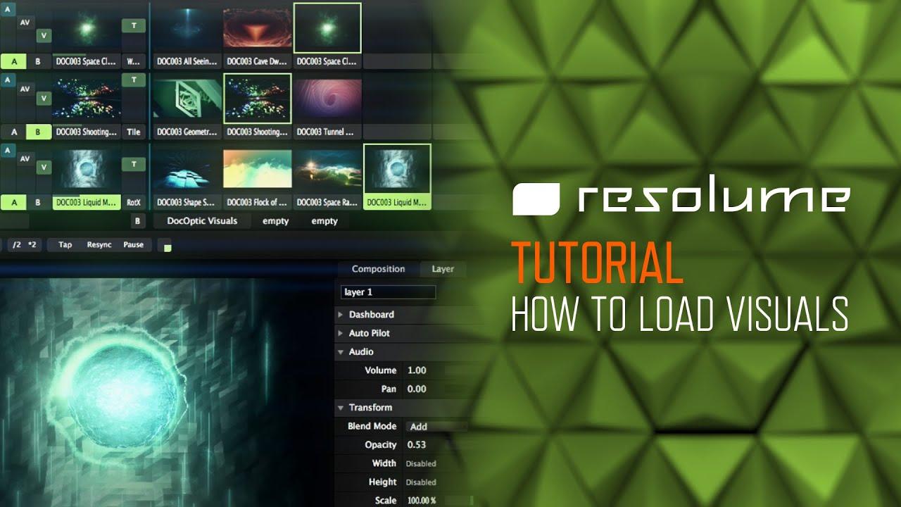 Resolume Arena & Avenue (Tutorial): The Basics of Loading Visuals