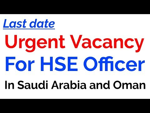 Urgent Vacancy For Safety Officer / Job For Safety Officer In 2019