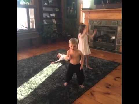 Jazzy and Jaxon dancing Lolly by Maejor Ali ft Justin Bieber/Juicy J