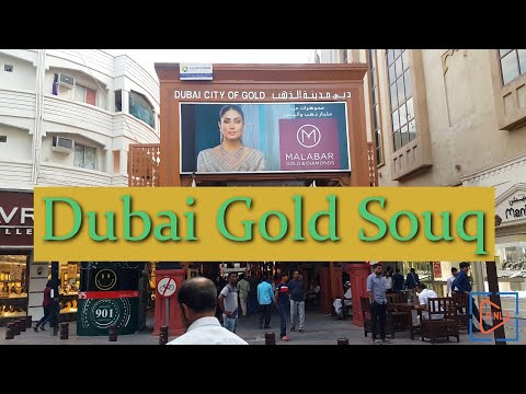 Dubai Gold Souq – City | 4K | UAE | (Amazing collection of Silver, Gold, Diamond & precious Stones)