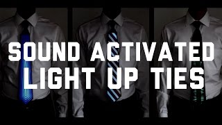 Sound Activated Light Up Neckties