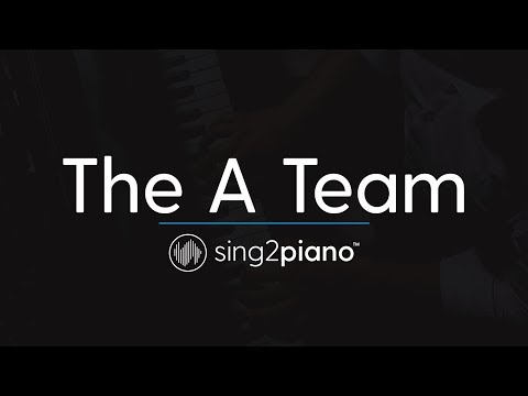 The A Team (Piano Karaoke Instrumental) Ed Sheeran