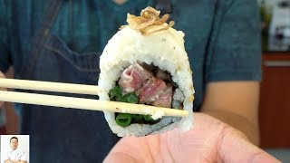Steak and Potato Sushi Roll | DIY Supermarket Ingredients