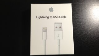 Apple Lightning to USB Cable unboxing