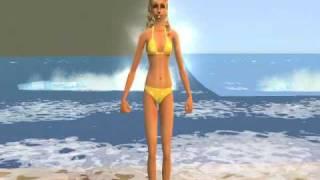 Sims 2- itsy bitsy teenie weenie yellow polka dot bikini