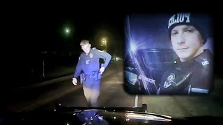 Dash cam video of the traffic stop that occurred moments before a T...