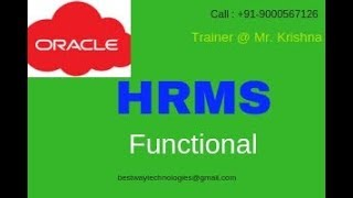 Bestway technologies offering oracle apps hrms online training. call : 91-9000567126. http://www.bestwaytechnologies.in/oracle-hrms-online-training-in-hydrab...